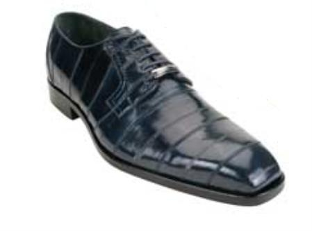 Belvedere Milano made of Genuine Eel Skin in Navy $269