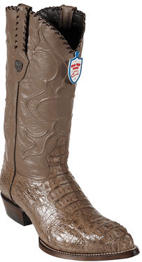 Wild West Mink J-Toe caiman ~ World Best Alligator ~ Gator Skin Hornback Cowboy Boots