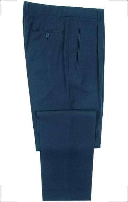 SKU# ARG473 Hardwick Made in USA Navy Blue Double Pleated Super 120s Wool premier quality italian fabric Dress Slacks $99