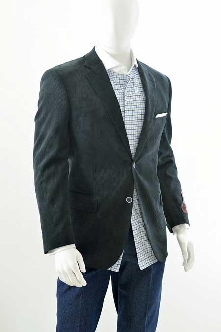 Cheap Priced Online Men's Corduroy Men's Wholesale Blazer - Modern Fit Black