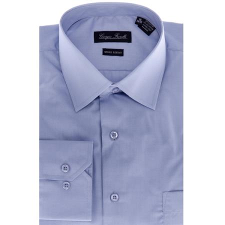 Modern-fit Blue Men's Dress Shirt