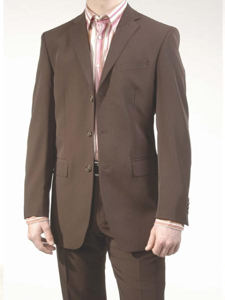 SKU# 421 Modern Brown 3 Buttons Super 150s Wool Italian Design  $199