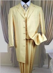 SKU# 23E Modern Wedding Light Ivory-off White 3 Piece Vested Fashion Wedding Suits $165
