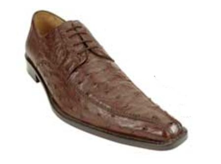 Belvedere Monza made of Genuine Quill Ostrich in Brown $399
