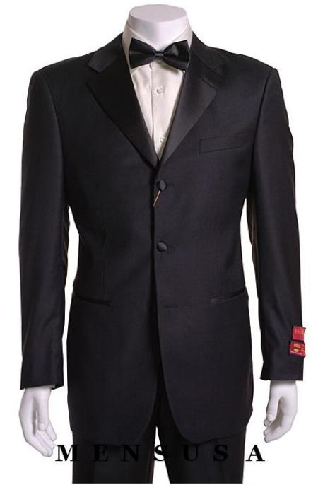 Retail:$1200 Most Luxurious Classic Designer 3 button Styled jacket Notch Lapel Tuxedo Suit $209