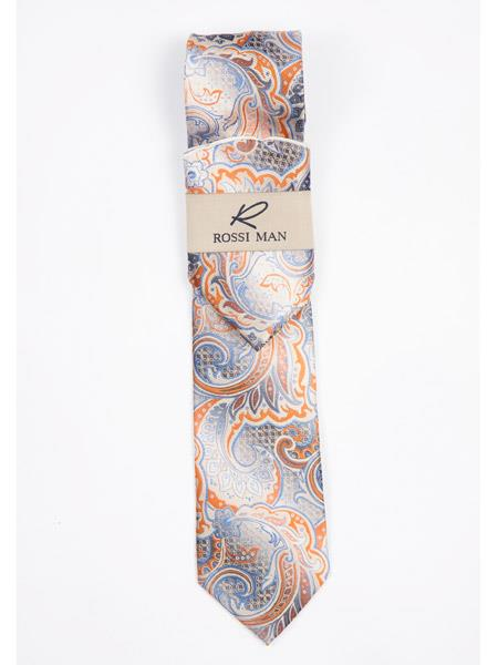 Buy SM3614 Men's New Comfortable Fit Multi Color Paisley Print Design Neck Tie