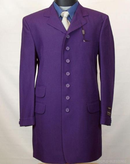 MensUSA.com NEW 2pc MENS Dress Fashion 7 Button ZOOT SUIT PURPLE(Exchange only policy) at Sears.com