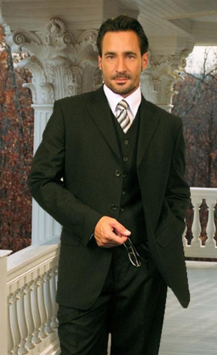 SKU: SKU16518 TS-3V NICE 3PC 3 BUTTON SOLID COLOR OLIVE MENS three piece suit $169