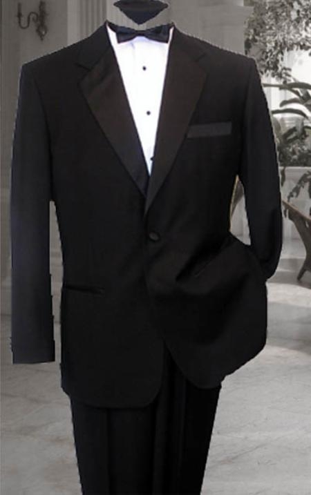 SKU#RT678 NICE 1 BUTTON Notch Lapel MENS BLACK TUXEDO SUPER 150'S Premier Quality Italian Fabric WOOL