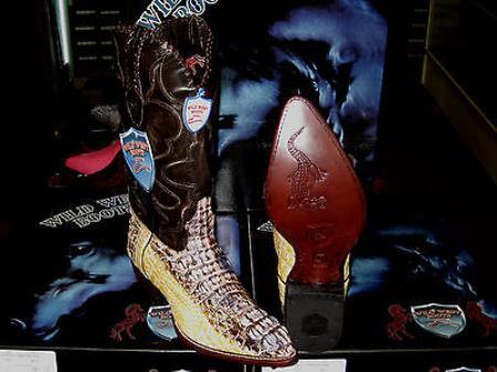 Wild West Natural Genuine Crocodile ~ World Best Alligator ~ Gator Skin Western Cowboy Dress Cowboy Boot Cheap Priced For Sale Online(D)