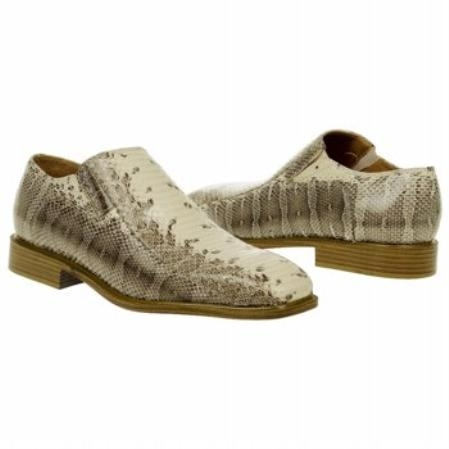 SKU#NT539 Natural Snake Embossed Leather Shoes $139