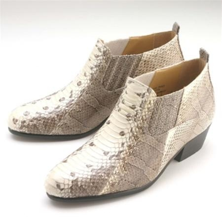 SKU#NS452 Natural Snakeskin Demi Boot $139