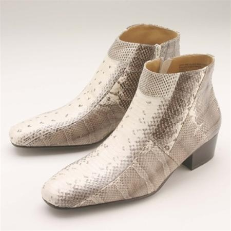 SKU#DVB312 Natural Snakeskin Demi Zip Boot $139