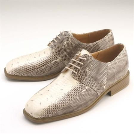 SKU#NL654 Natural Snakeskin Lace-Up $750