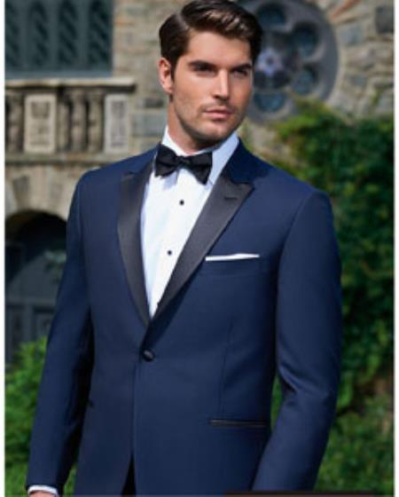 Men's Evening Peak Dark Navy 1-Button Tuxedo