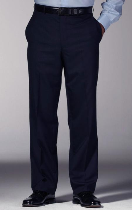 Mens Navy Blue Slim Fit Dress Mens Tapered Mens Dress Pants