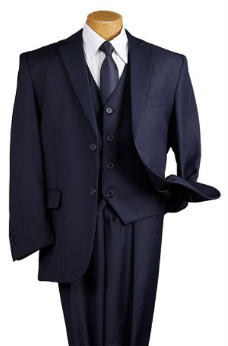 Boys Dark Navy Blue Suit For Men 5 Piece Kids Sizes 2 Button Suit Perfect for toddler wedding  attire outfits