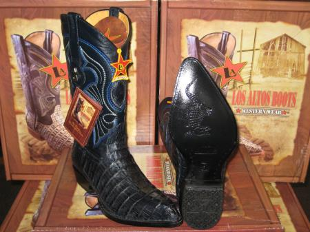 Los Altos Navy Blue Genuine Crocodile ~ World Best Alligator ~ Gator Skin Tail Western Cowboy Boot