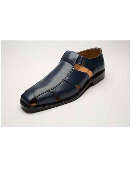 Men's Two Toned Casual Navy Men's Dress Sandals