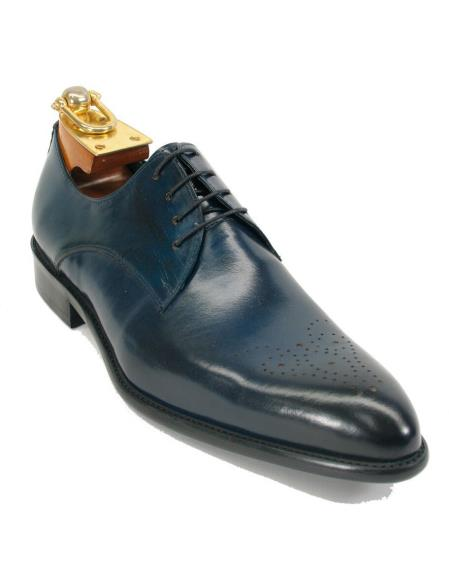 Mens Fashionable Carrucci Lace Up Style Navy Ombre Shoes