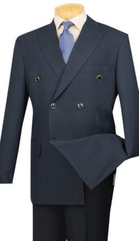Navy Vinci Mens Blazer With Best Cut & Fabric Mens Double Breasted Suits Jacket Sport Coat jacket