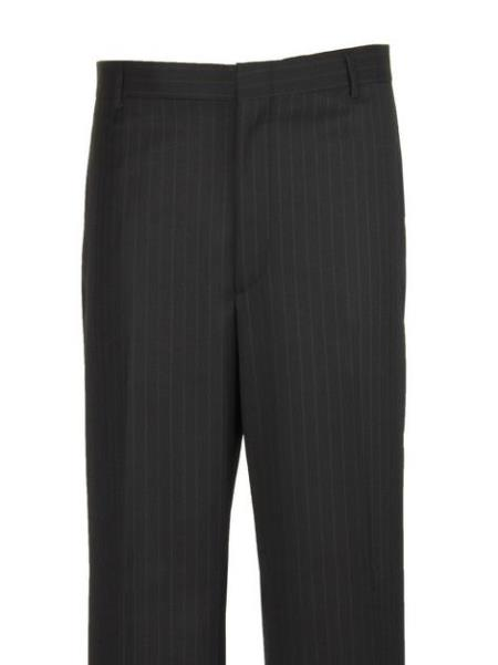 Mens Navy Legacy Fit Flat Front Dress Pants unhemmed unfinished bottom