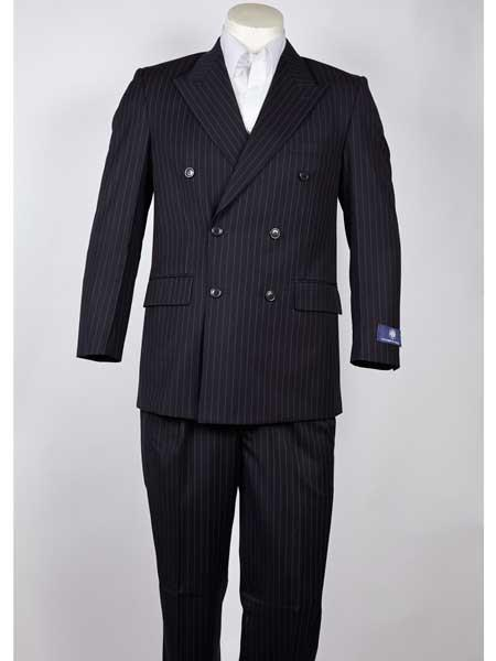Double Breasted Navy Pinstripe