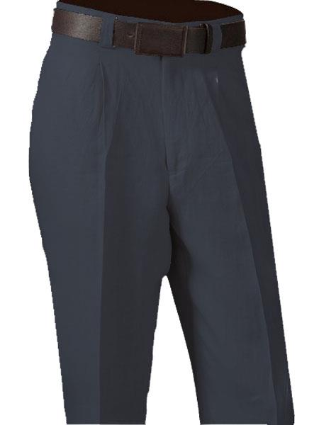 Single Pleated Navy Pant