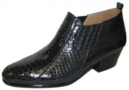 Genuine Snakeskin Boots Navy