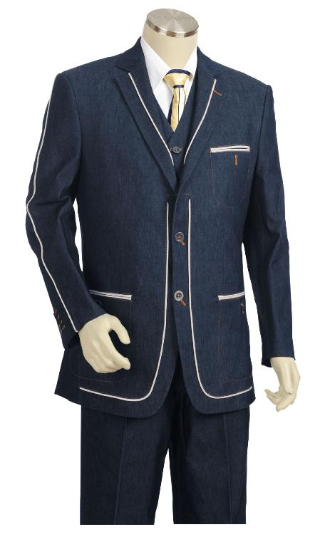 Mens Three Button Suit