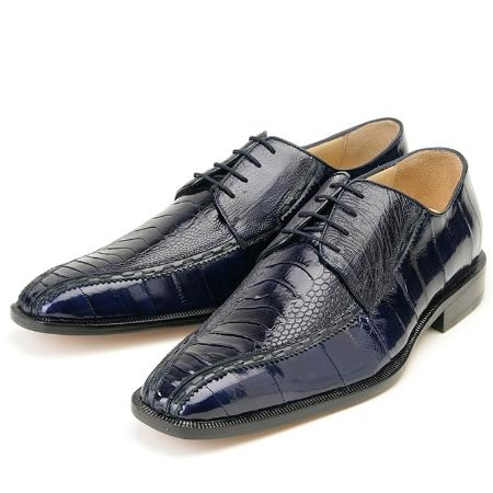 SKU#AZ101 Navy, Genuine Ostrich/Eel by Belvedere $259