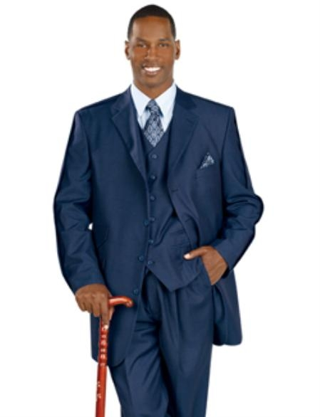 SKU#RA237 Navy Premium Quality Tailored Men's Clothing $149