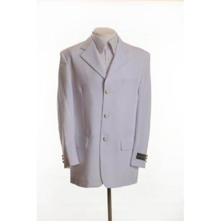 SKU# BH896 New Mens White Blazer - Three Button, Single Breasted Suit Jacket