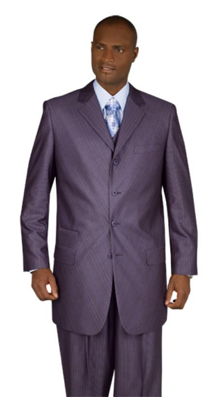 SKU#BP289 New Mens Dress High Fashion 4-Button Suit $179