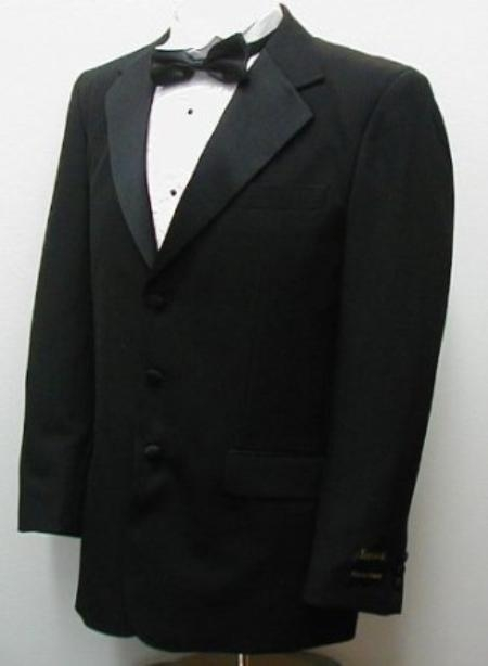 SKU#BU2079 Buy & Dont pay Tuxedo Rental New Mens High Quality Single Breasted Three Button Black Tuxedo Suit $99