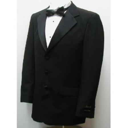 SKU#BA579 Buy & Dont pay Tuxedo Rental New Mens Single Breasted Three Button Black Tuxedo Suit