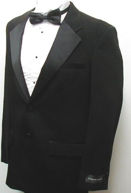 SKU#JOS_Tux101 Buy & Dont Pay Black Tuxedo Rental New Mens Two Button Black Tuxedo Jacket / Blazer / Sport coat No Pants