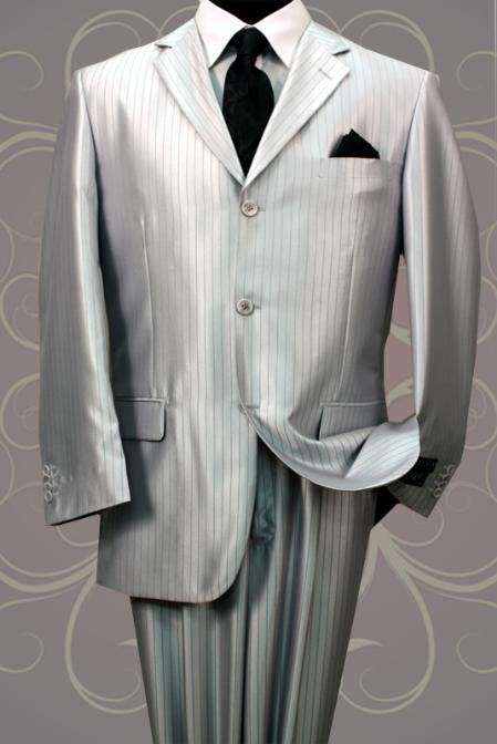 SH20 Nice 2PC 3 Button Tone On Tone Gray Shark Skin Mens Suit $199