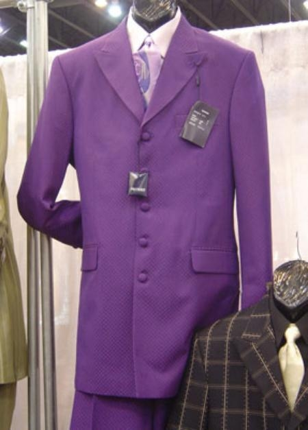SKU# OLR251 Nice Beautiful Purple Fashion Mens Suit $139