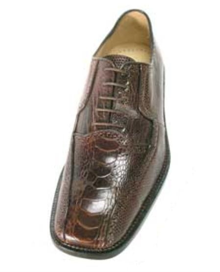 Belvedere Noce Made of Genuine Lizard and Ostrich in Brown $299