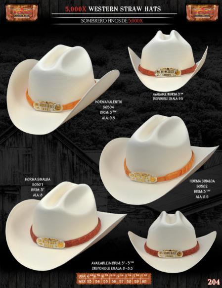 SKU#HMA7117 5,000x Norma Style Western Cowboy Straw Hats