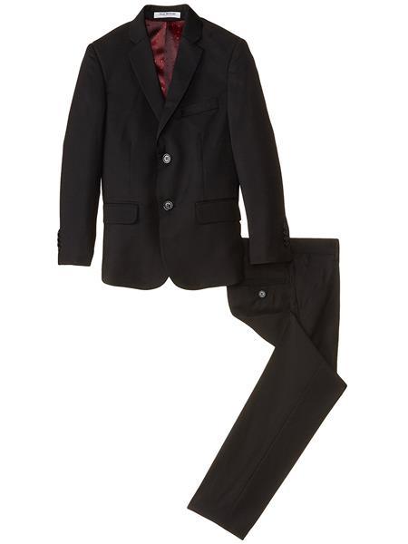 kids children Boys Slim Linen/Cotton Black Kids Sizes 2 Piece Cut  Suit Perfect for toddler Suit wedding  attire outfits