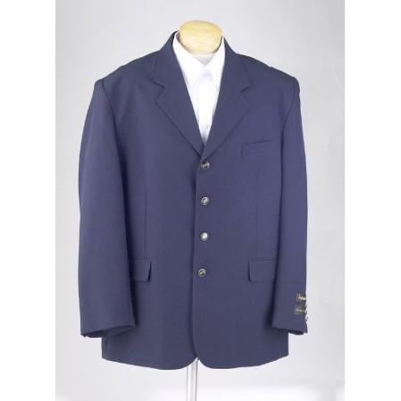 SKU#OPR25 New Mens Navy Blue Blazer - 3 Button Single Breasted Suit Jacket