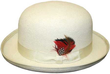 Mens bowler derby style ~ Bowler Hat Off white