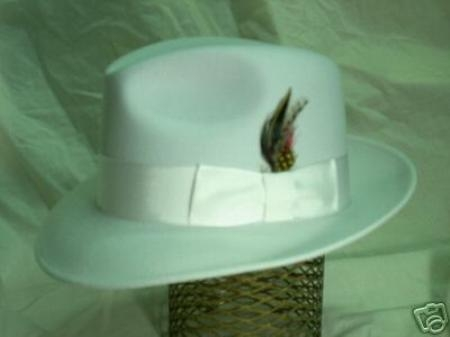 SKU# TB2 Off White Untouchable Fedora Hat Very Soft and Silky Sovereign Quality Finish $49