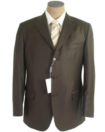 SKU# QP09 Olive Green Mens Single Breasted Discount Dress 3  Button Cheap Suit $79