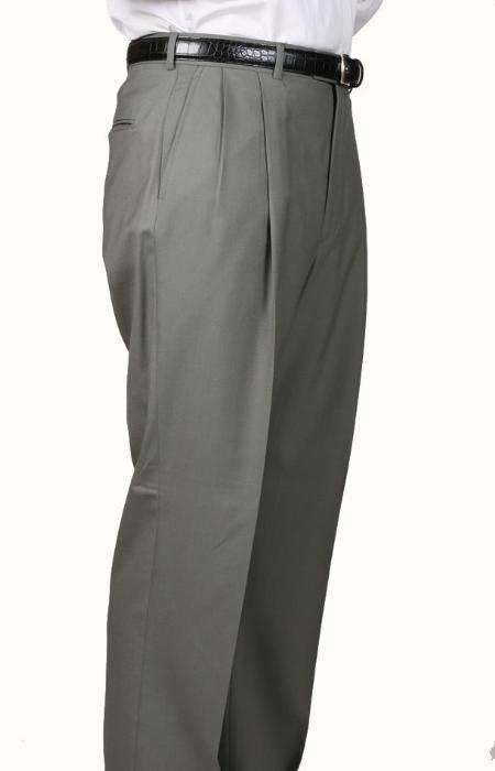 SKU#OV4900 Olive, Parker, Pleated Pants Lined Trousers $99