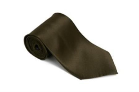 SKU#SH511 Olivegreen 100% Silk Solid Necktie With Handkerchief $29