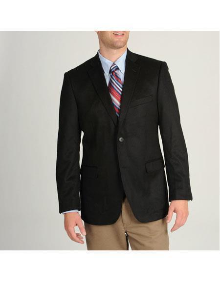 Men s Black Designer Fashion Dress Casual Blazer