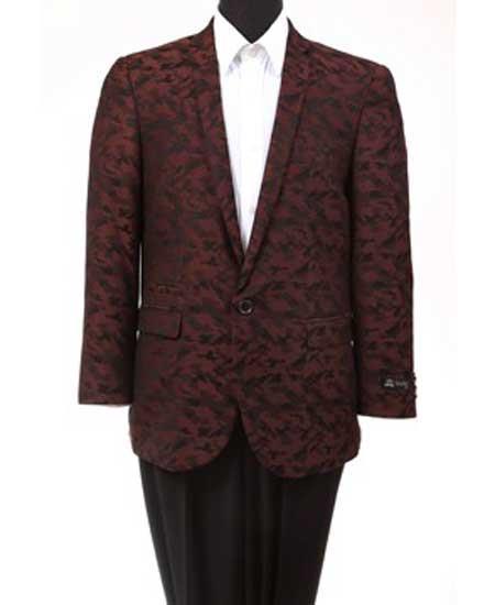 Men's 1 Button Abstract Design  Burgundy ~ Wine ~ Maroon Suit Slim Fit Cheap Priced Blazer Jacket For Men Online Fashion Jacket